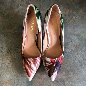 Liliana Watercolor Floral Abstract Stiletto Heels